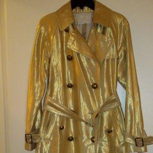 MARC JACOBS metallic gold trench coat